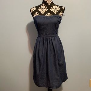 Strapless Jean  Summer Dress